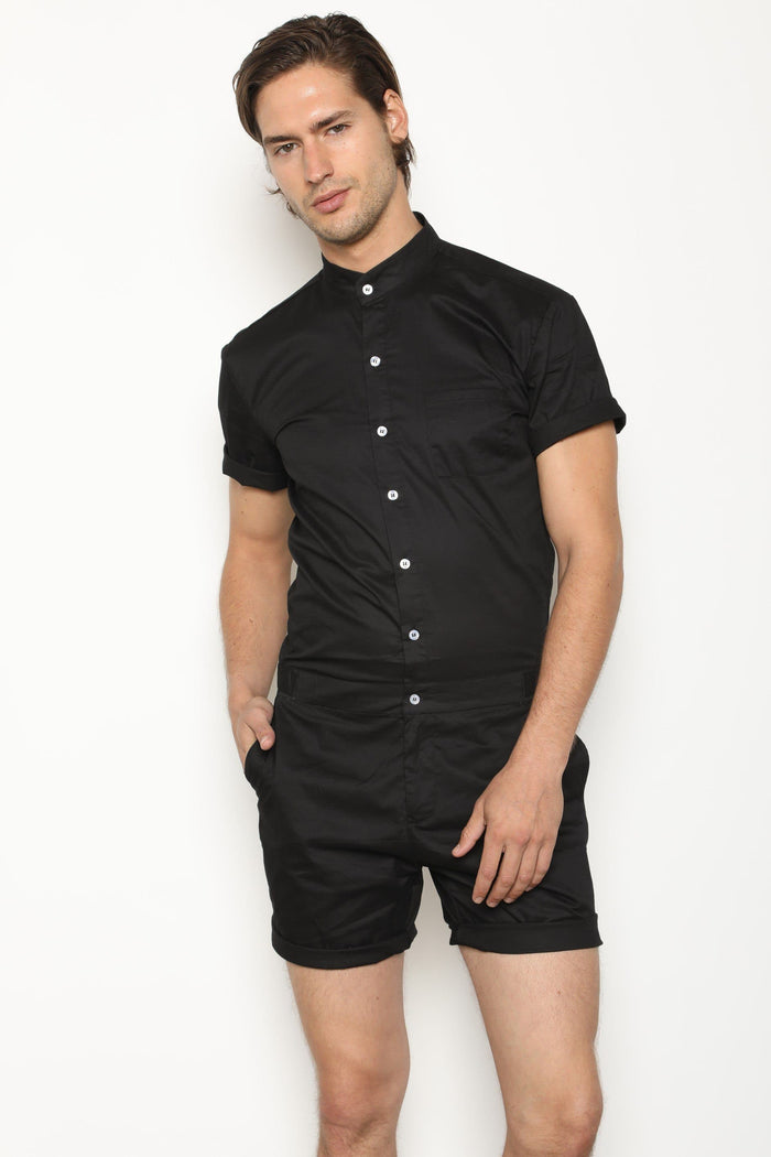 Black RomperJack (Back Order Ships Early April) - RomperJack, Mens Romper - Male Romper