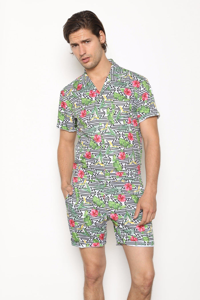 Floral Illusion - RomperJack,  - Male Romper