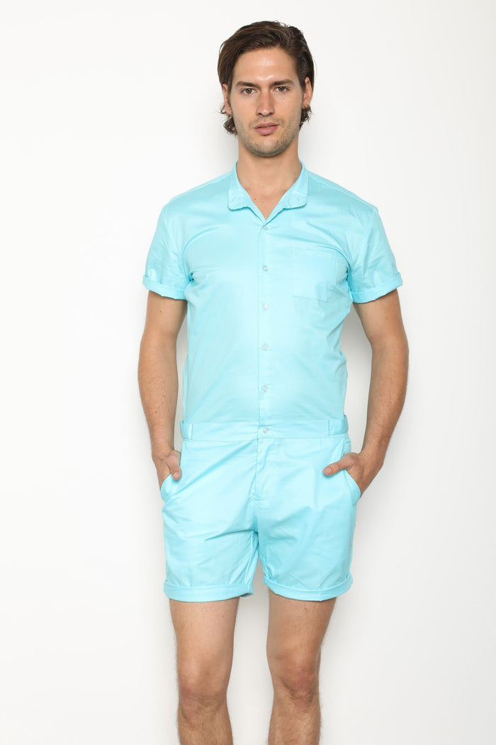 LightBlue RomperJack (Back Order Ships Early April) - RomperJack, Men's Romper - Male Romper