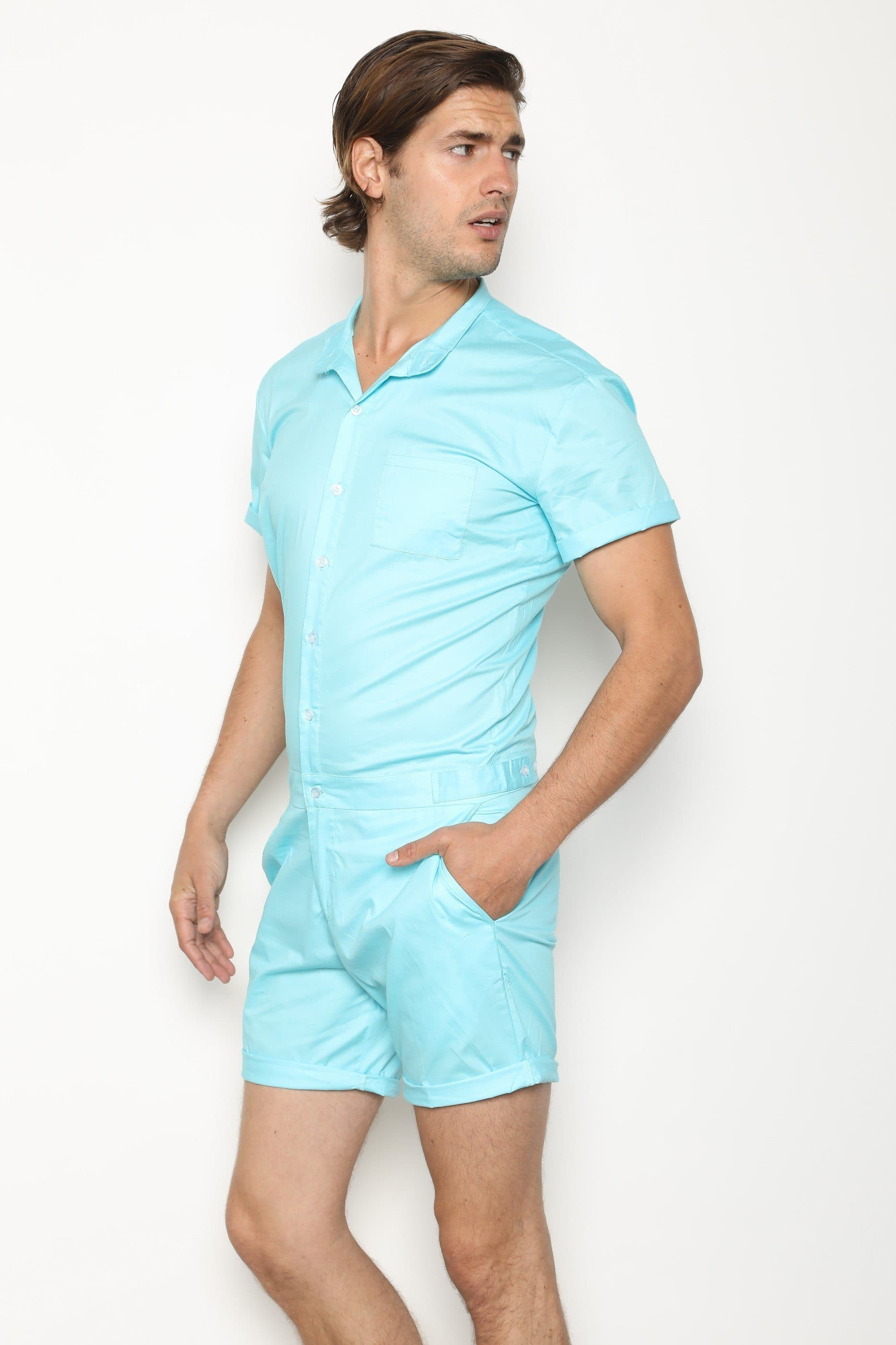 LightBlue RomperJack - RomperJack, Men's Romper - Male Romper