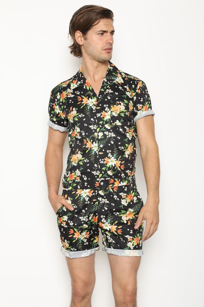 Tropical Black - RomperJack, Mens Romper - Male Romper