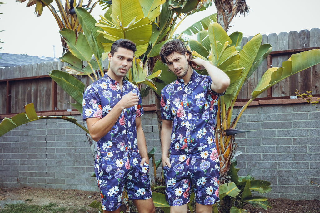 Floral Passion - RomperJack, Men's Romper - Male Romper