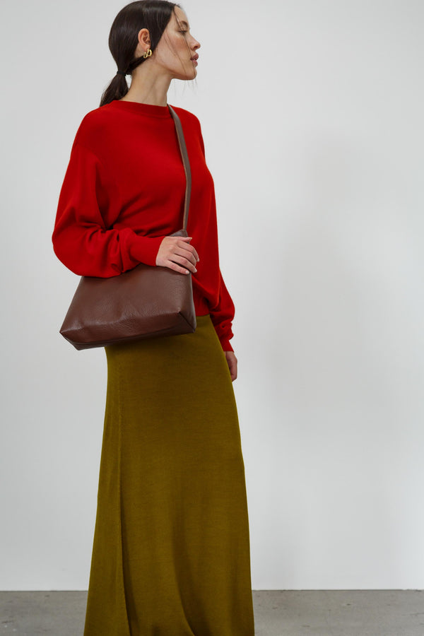 Vintage Dark Ruby Metallic Skirt