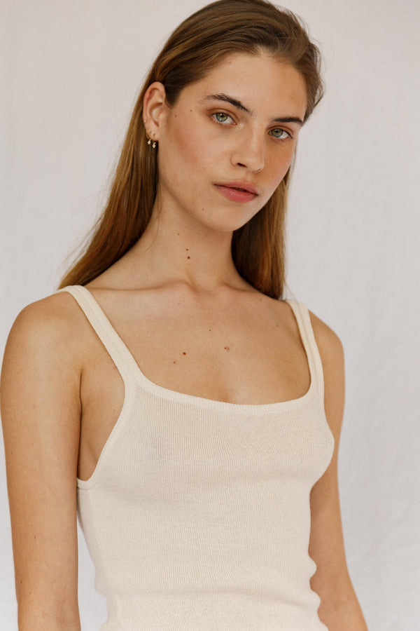 Soul Silk Cotton Rib Singlet