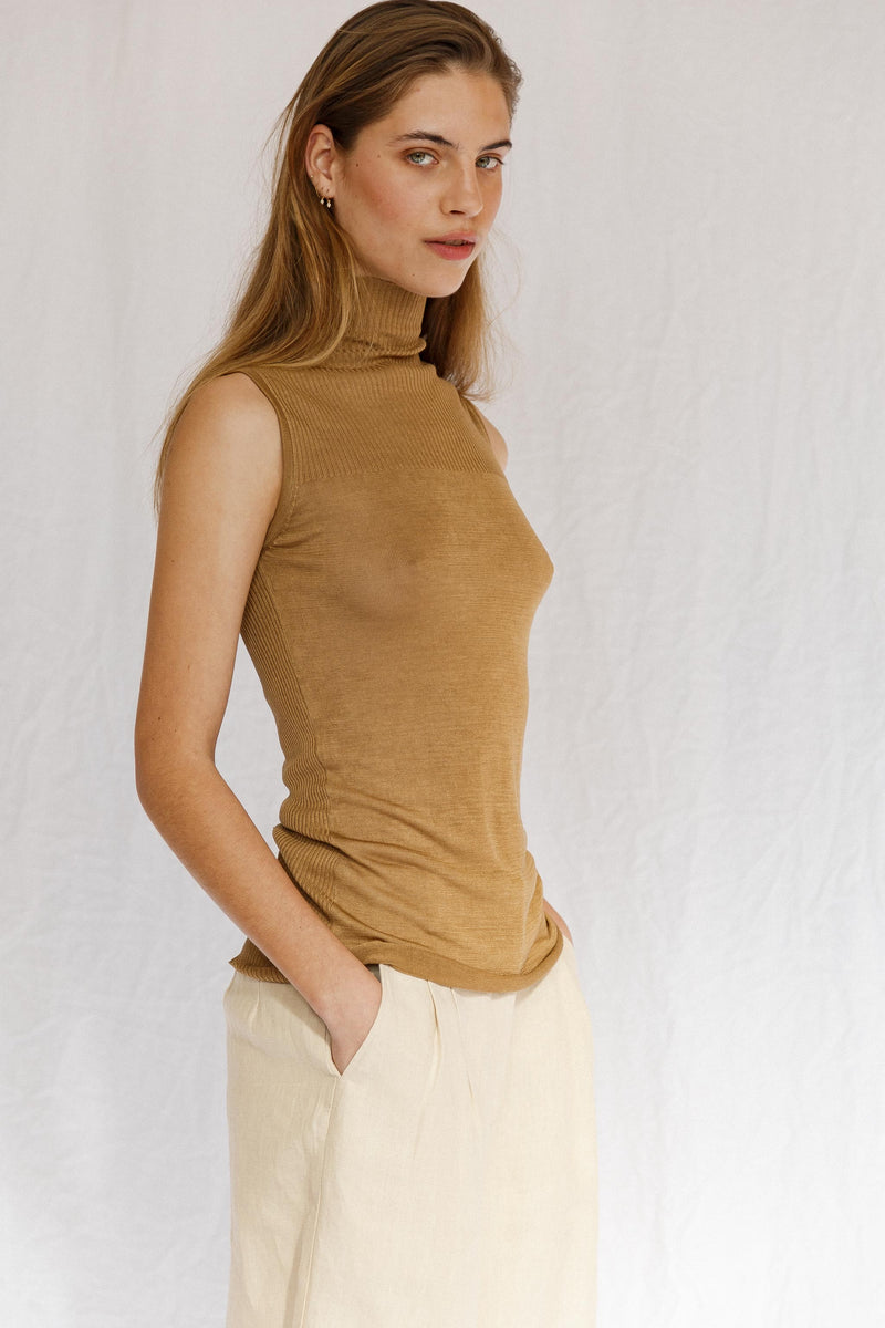 Love Token Silk Sleeveless Top