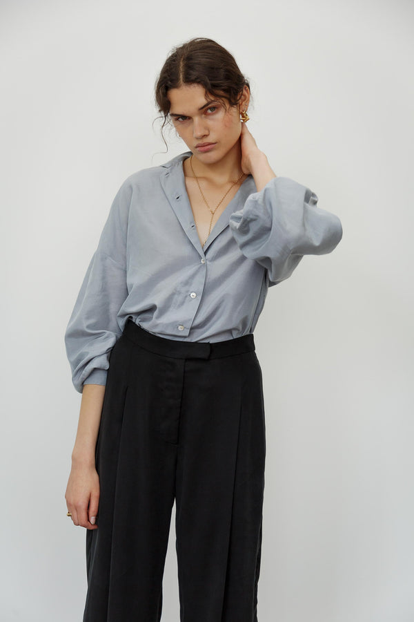 Heart Silk Cotton Shirt
