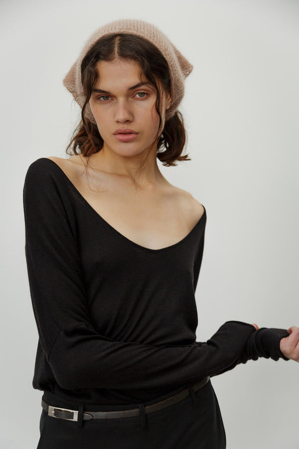 Scoop Cashmere Silk Top