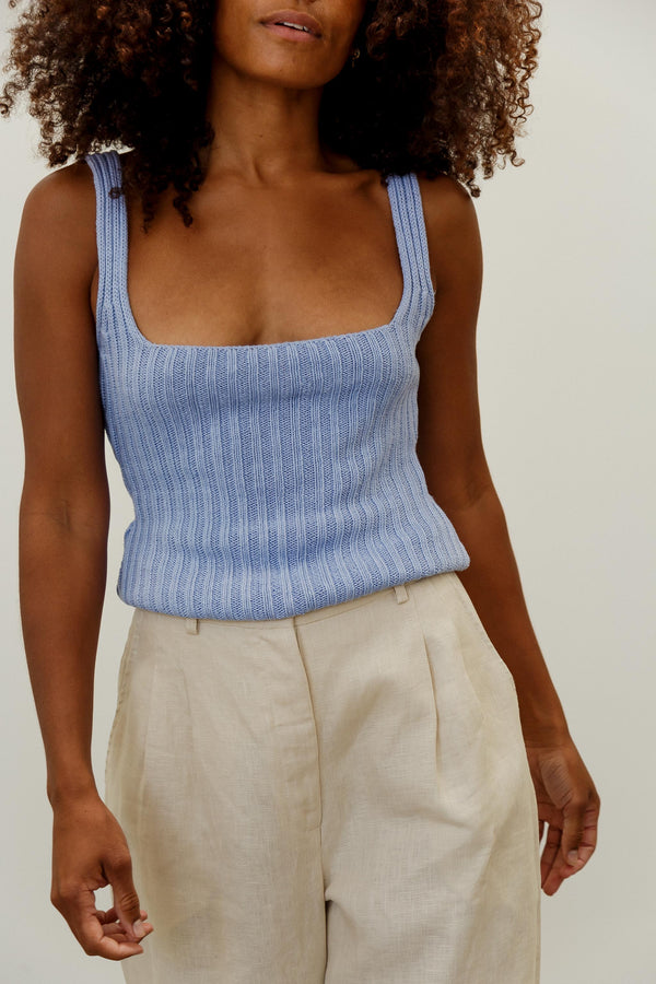 Pearl Linen Knit Top
