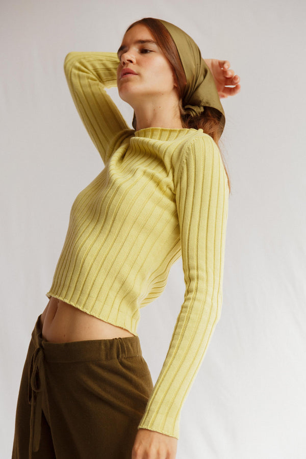 Alma Cashmere Cotton Ribbed Jumper