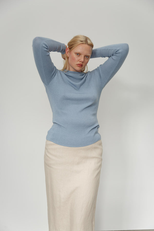 Maxine Cashmere Silk Top