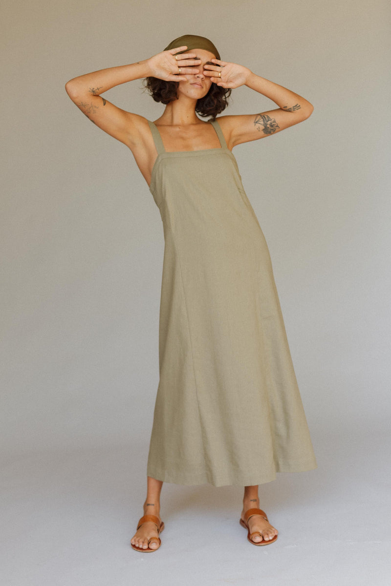 Dalliance Linen Slip Dress