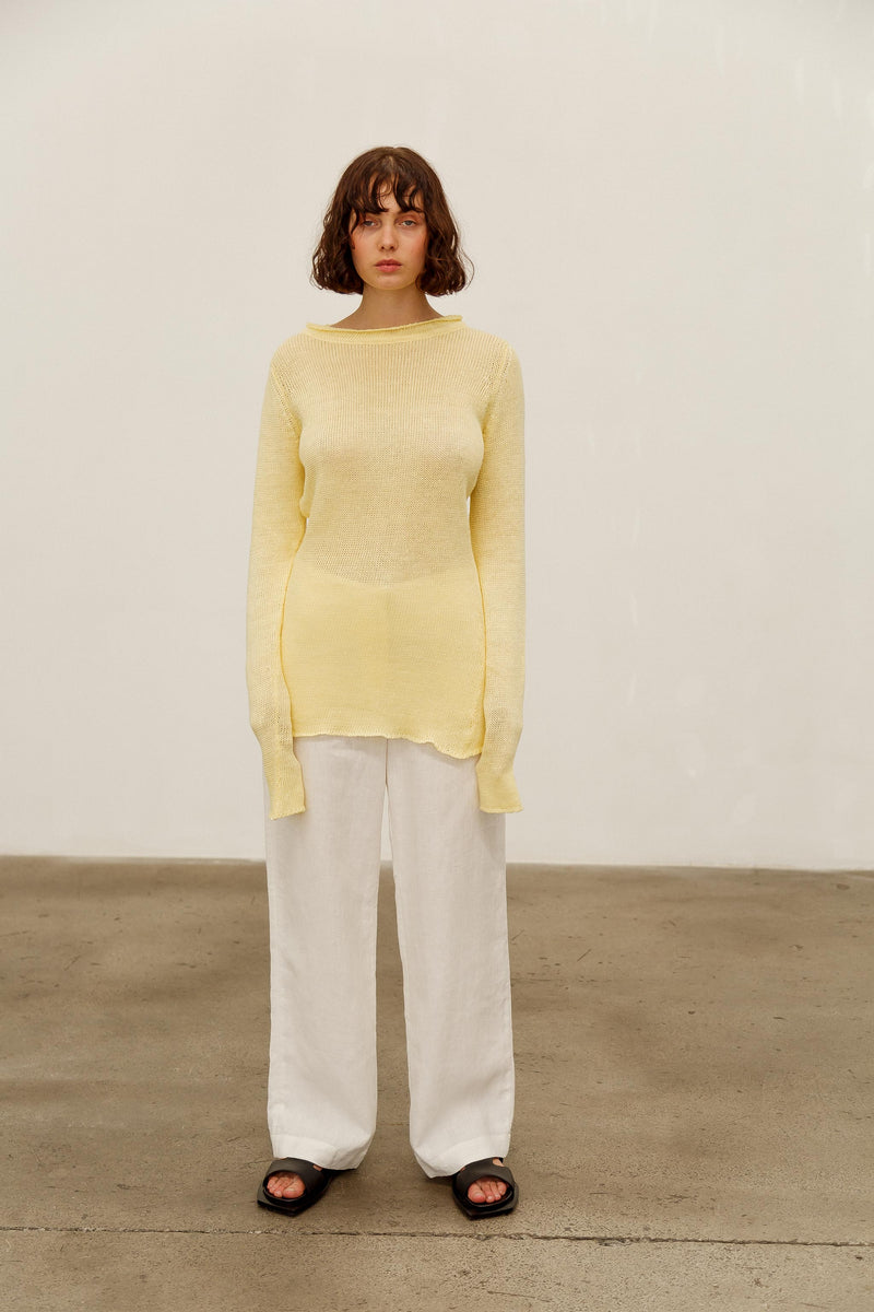 Addie Linen Jumper
