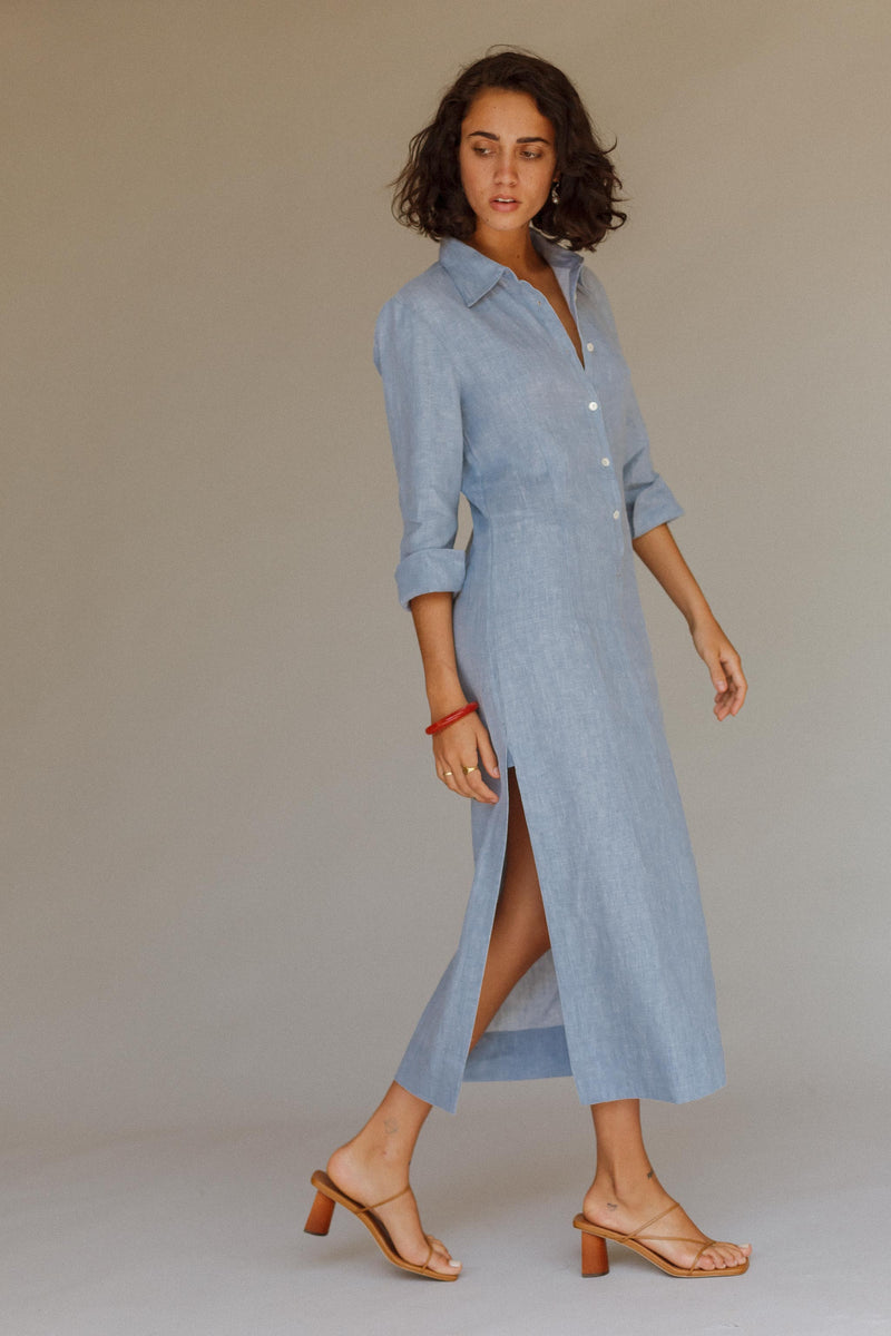 Mayflower Linen Shirt Dress