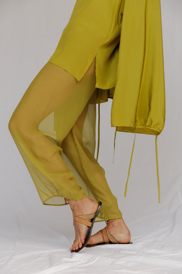 I Dream Silk Chiffon Pants