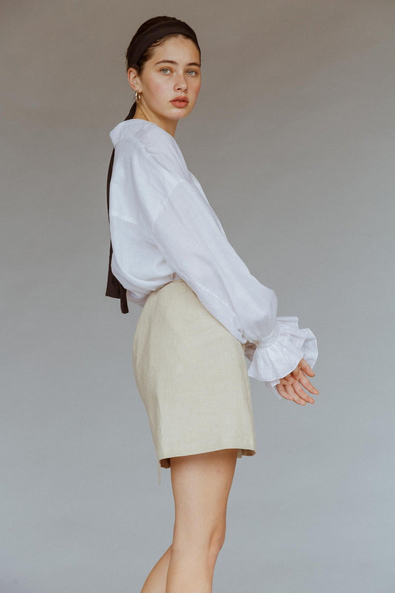 Billie Linen Wrap Skirt