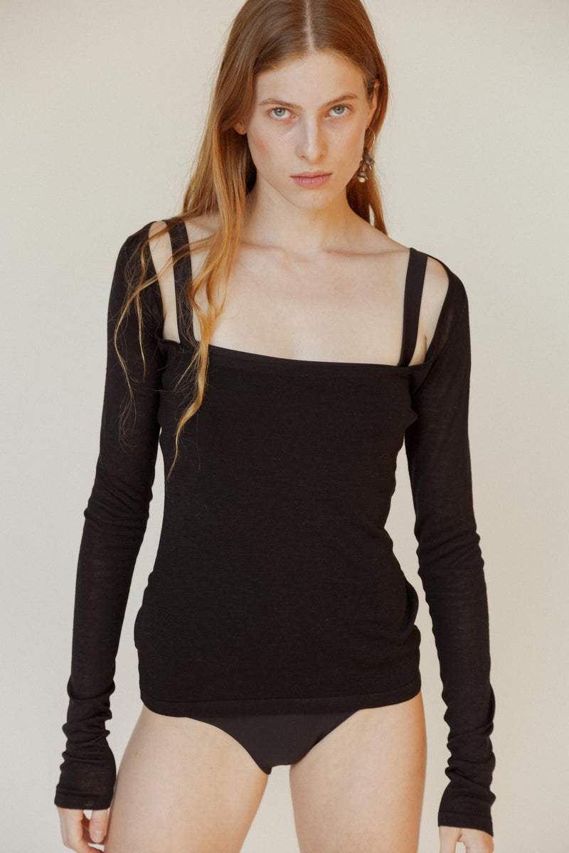 Pearl Silk Knit Top