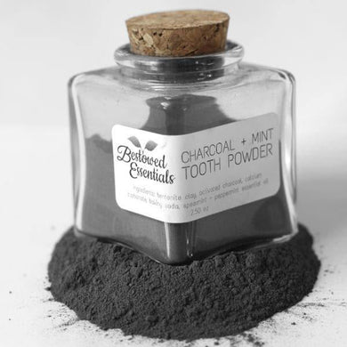 Charcoal + Mint Tooth Powder - Bestowed Essentials - Hippie Haven