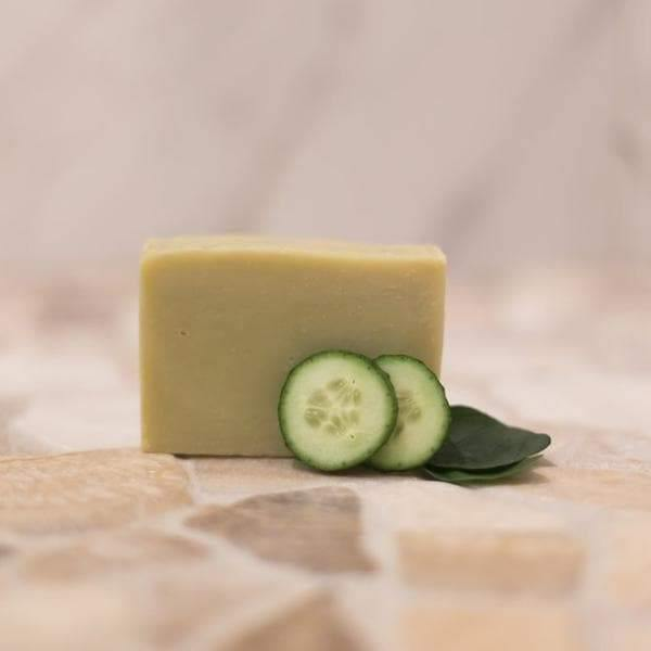 cucumber spearmint soap zero waste soap bestowed essentials
