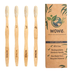 Bamboo Toothbrushes (Adult + Kids) - Hippie Haven