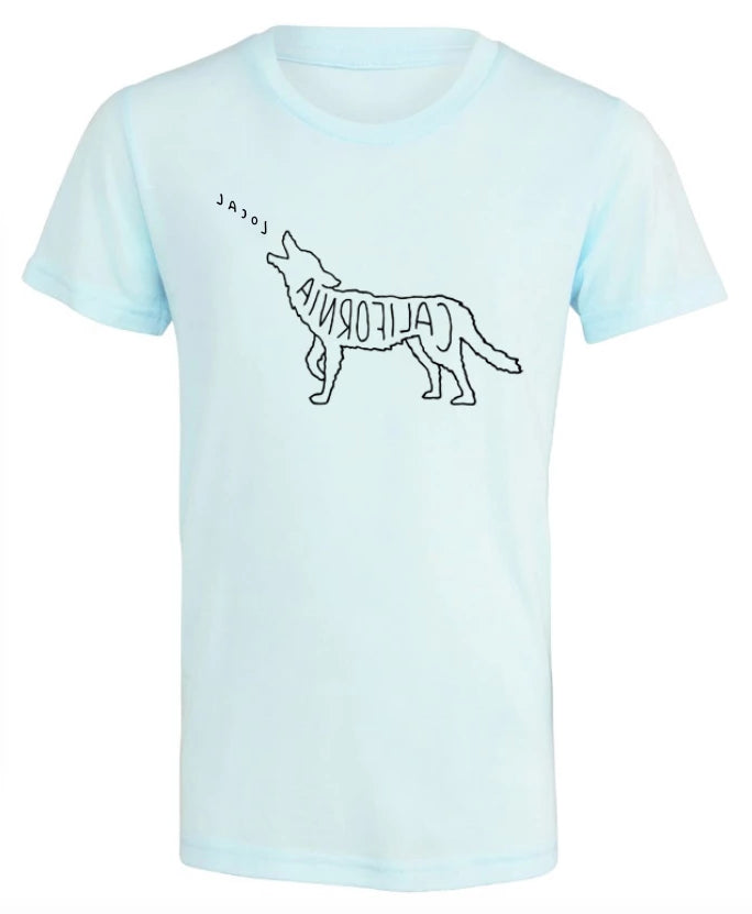 Call of the Coyote, Kids Tee - Ice Blue
