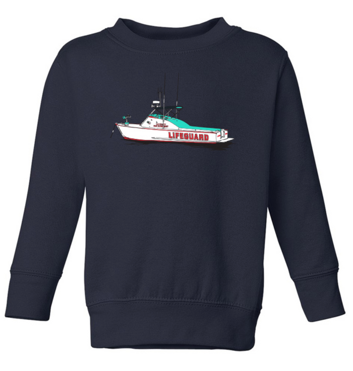 Lifeguard Boat Kids Sweatshirt