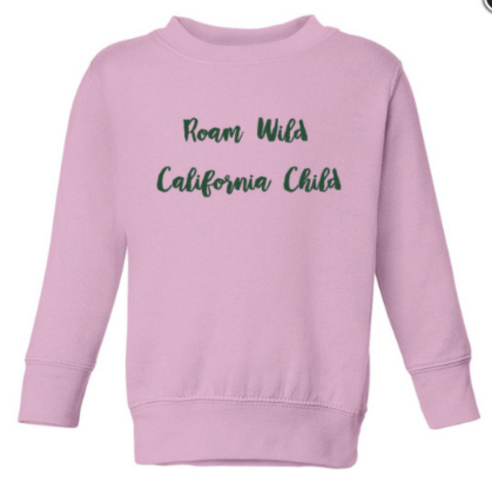 """Roam Wild California Child"" Kids Sweatshirt"