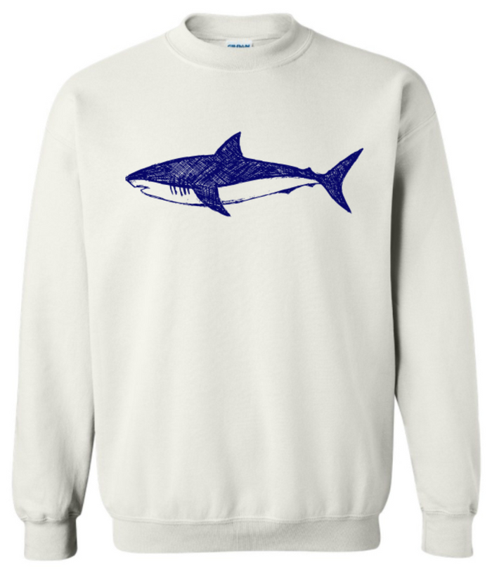 Shark Love Blue Adult