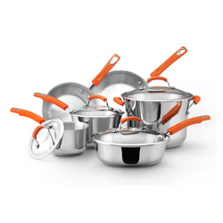 10pc Cookware Set - Stainless Steel
