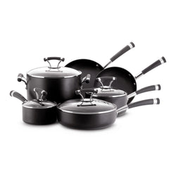 10-Pc Contempo Hard Anodized Cookware Set
