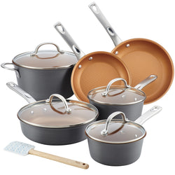 Home Collection Hard Anodized 11-Piece Cookware Set