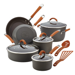12-Pc Cucina Hard Anodized Cookware Set (Pumpkin)
