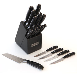 18-Pc Triple Rivet Cutlery Set w/ Block