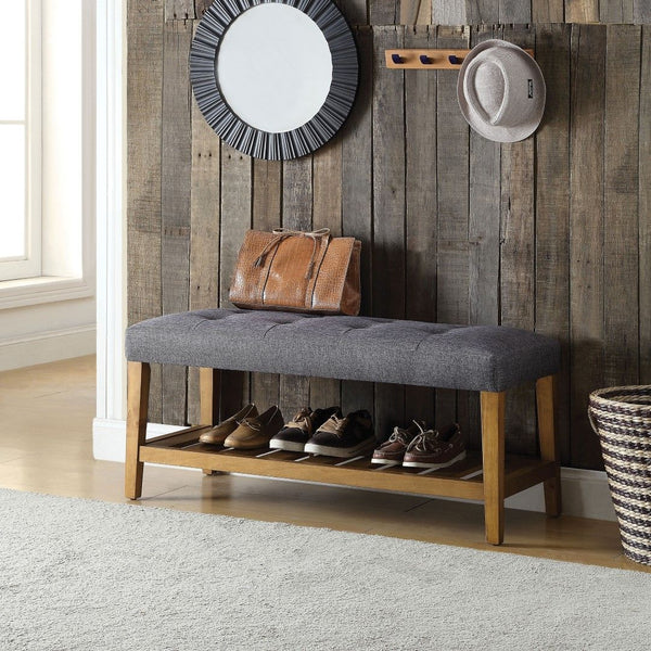 My Decor Center - Charla Bench (Gray)