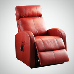 My Decor Center - Ricardo Recliner With Power Lift (Red PU)