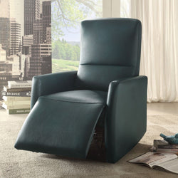 My Decor Center - Raff Recliner Power Motion (Blue Leather-Aire)