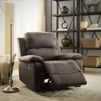 My Decor Center - Bina Recliner (Charcoal Microfiber)