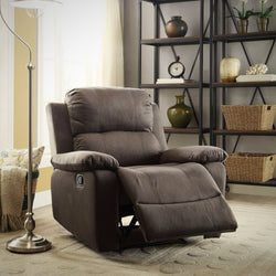 My Decor Center - Free Shipping - Acme Furniture, Bina - Recliner (Charcoal Microfiber)