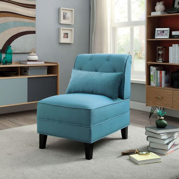 My Decor Center - Susanna Accent Chair (Teal Linen)
