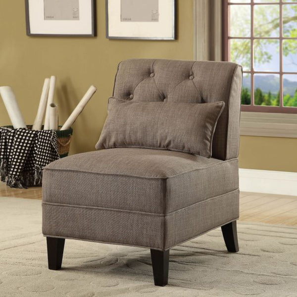 My Decor Center - Susanna Accent Chair (Charcoal Linen)