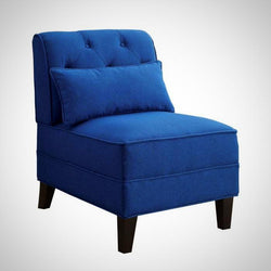 My Decor Center - Susanna Accent Chair (Blue Linen)