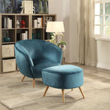 My Decor Center - Aisling Ottoman (Teal Velvet)
