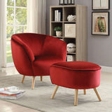 My Decor Center - Aisling Ottoman (Red Velvet)