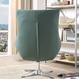 My Decor Center - Eudora Accent Chair (Green Leather Gel)