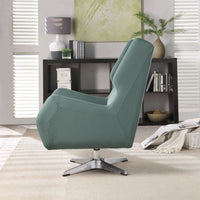 My Decor Center - Eudora II Accent Chair (Green Leather Gel)
