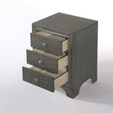 My Decor Center - Blaise Nightstand 3 Drawer (Gray Oak)
