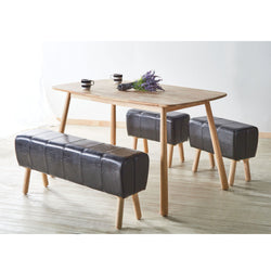 My Decor Center - Free Ground Shipping - Acme Furniture, Dining Stool, Dessa - Dining Stool (Black PU & Natural)