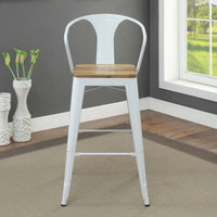 My Decor Center - Jakia II Bar Arm Chair (White & Natural)