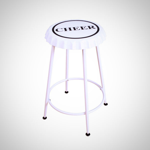 My Decor Center - Mant Counter Height Stool (White)