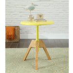 My Decor Center - Lumina End Table (Yellow & Natural)