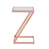 My Decor Center - Laina Side Table (Copper & Frosted Glass)